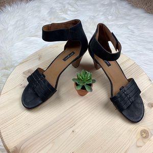 Paul Green Leather Strap Heels